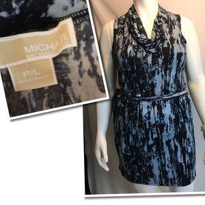 Michael Kors Stretch Blue Dress Size PL